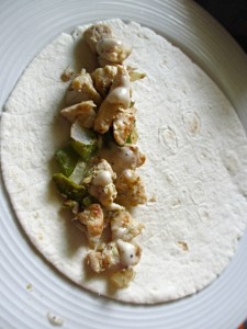 Homemade Chicken Caesar Wrap