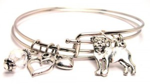 adjustable pug bracelet