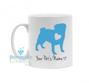 personalized pug mug