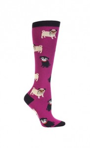 pug knee high socks