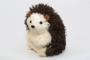 Hedgehog natural figurine