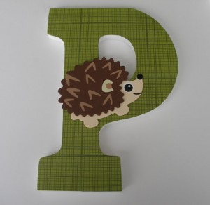 hedgehog customized letter