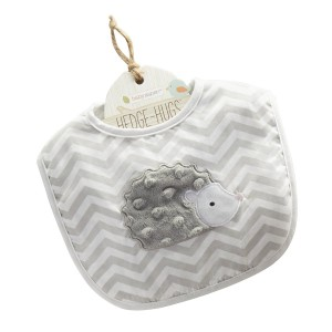 grey & white hedgehog bib chevron