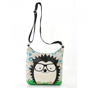 nerdy hedgehog purse