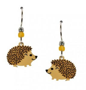 hedgehog dangling earrings