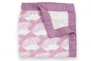 purple hedgehog blanket