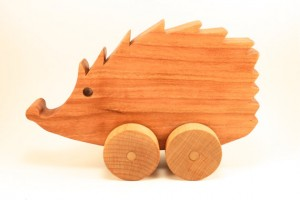 Wooden hedgehog toddler toy
