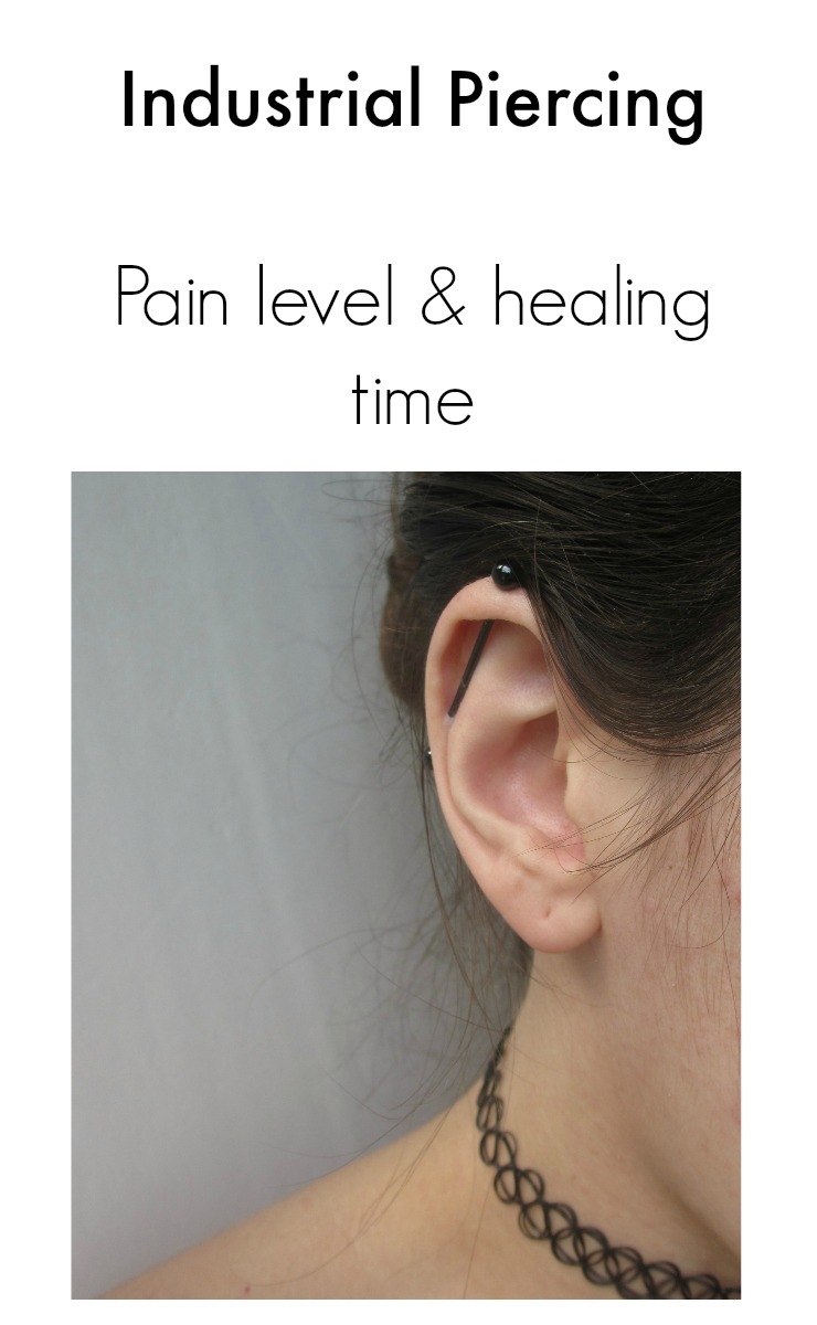 Industrial piercing pain level and healing time
