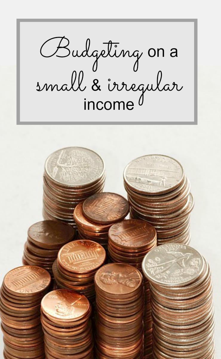 budgeting with a small and irregular self employment income