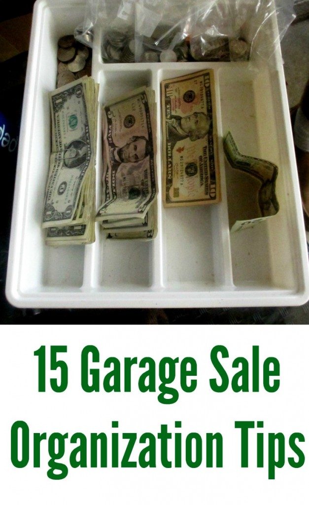 Garage sale organization tips