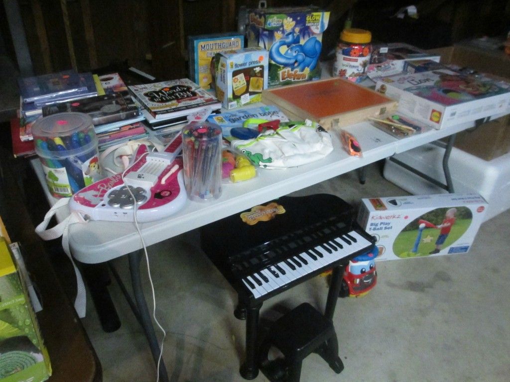 Kid table garage sale