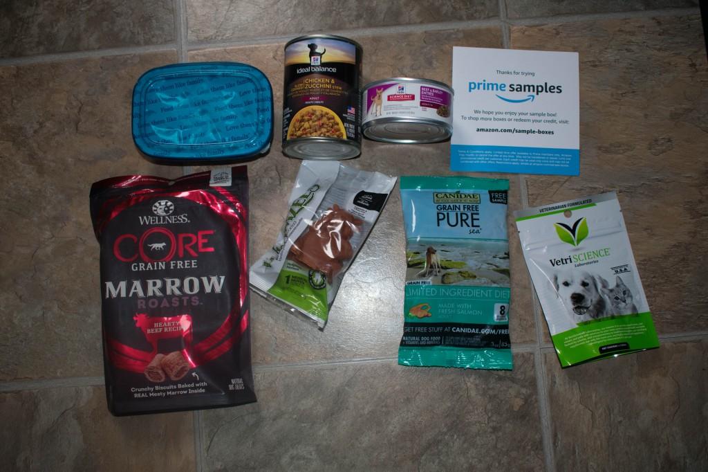 Amazon prime dog treat sample box
